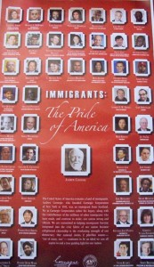 "Photo of the Carnegie Corporation's ""Immigrants: The Pride of America"" poster"